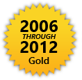 HRSD Gold Award for Outstanding Environmental Compliance from 2006 through 2012