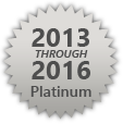 HRSD Platinum Award for Outstanding Environmental Compliance from 2013 through 2016